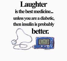 Insulin pump best medicine (black text) Unisex T-Shirt