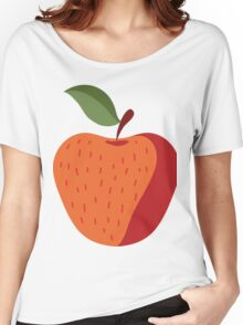 Elegant and Cool Apple Vector Design Women's Relaxed Fit T-Shirt