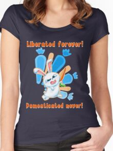 Liberated Forever, Domesticated Never! (The Secret Life Of Pets) Women's Fitted Scoop T-Shirt