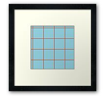 Citymap Grid - Blue/Airline Orange Framed Print