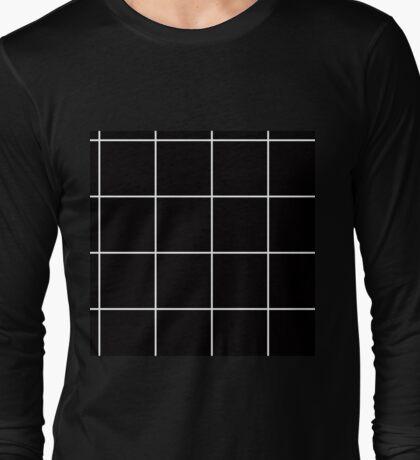 Citymap Grid - Black/White Long Sleeve T-Shirt