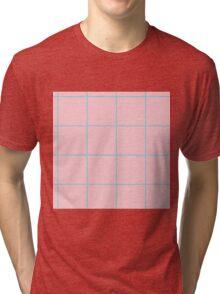 Citymap Grid - Pink/Blue Tri-blend T-Shirt