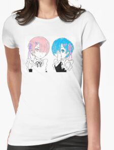 Re:Zero Rem and Ram Womens Fitted T-Shirt