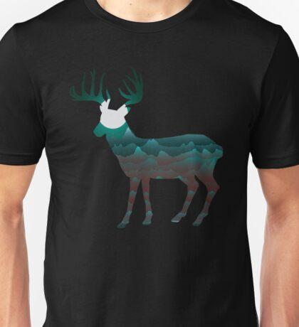 Majestic Deer Mountains Unisex T-Shirt