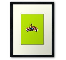 Retro Bike 02 Framed Print