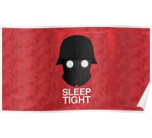 Sleep Tight Soldier Silhouette  Poster