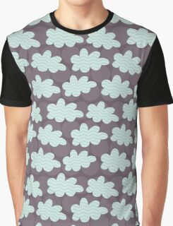 Whimsical Storm Clouds Graphic T-Shirt