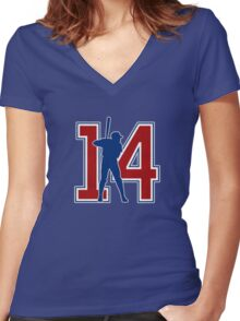 14 - Mr. Cub (original) Women's Fitted V-Neck T-Shirt