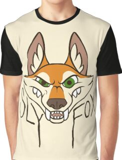 Sly Fox - Dark Text Graphic T-Shirt