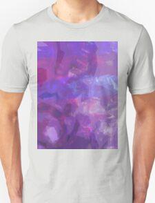 Abstract Purple Pattern Unisex T-Shirt