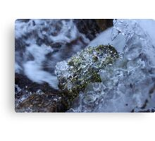 Icy  Winter Waterfall Canvas Print