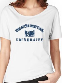 DEATH METAL UNIVERSITY - BLUE Women's Relaxed Fit T-Shirt