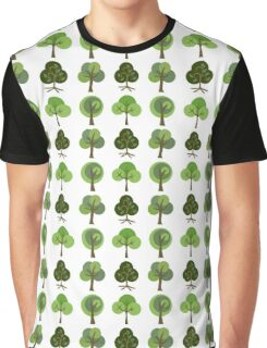 Cute Retro Spring Trees Graphic T-Shirt