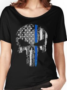 Punisher - Blue Line V3 Women's Relaxed Fit T-Shirt