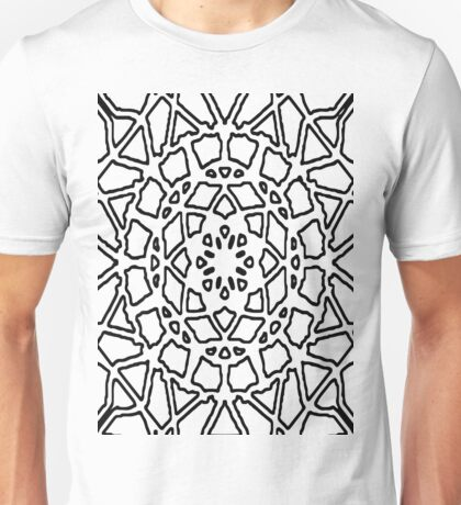 Color your own clothes - Flower, black and white Unisex T-Shirt