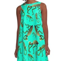 Praying Mantis Dance A-Line Dress
