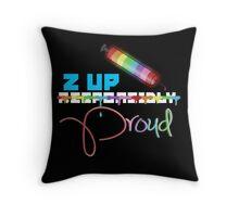 Z Up Proud Throw Pillow