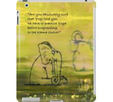 Yoga for Elephants 1 iPad Case/Skin