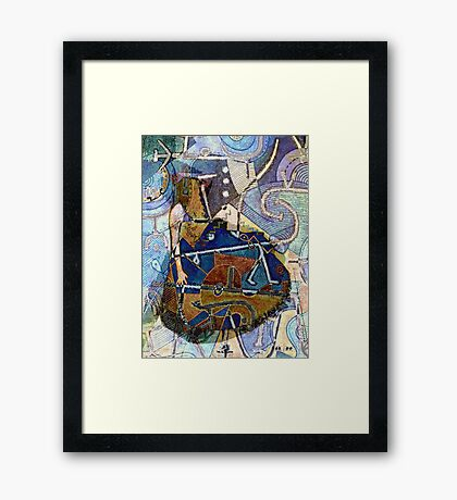 LOST IN THIS MODERN DAY LOVE Framed Print