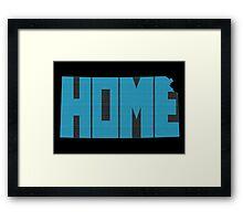 Kansas HOME state design Framed Print