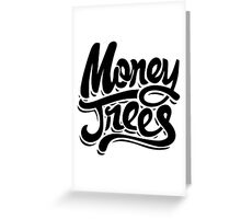 Money Trees - Black Greeting Card