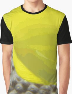 Whimsical Cheerful Yellow Coral Fish Swimming Graphic T-Shirt