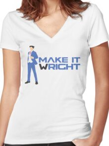 Make It Wright Women's Fitted V-Neck T-Shirt