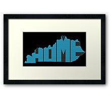 Kentucky HOME state design Framed Print