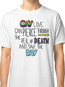 """Ghostfacers """"Gay Love"""" Quote Classic T-Shirt"""