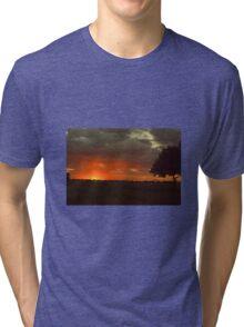 Red sunset Tri-blend T-Shirt