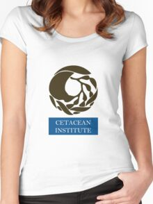 Captain! There be whales here! Women's Fitted Scoop T-Shirt