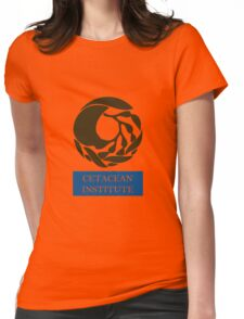 Captain! There be whales here! Womens Fitted T-Shirt