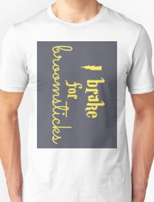 Brake for Broomsticks - Harry Potter Quidditch Hufflepuff Unisex T-Shirt