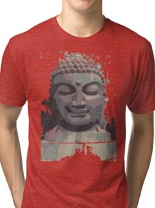 Cool Grey Buddha/Buddhist Tri-blend T-Shirt