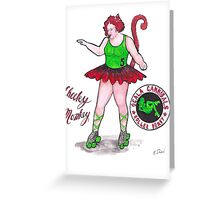 Cheeky Monkey From the Ocala Cannibals Greeting Card