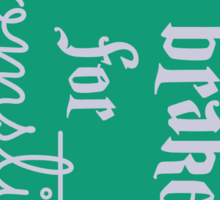 Brake for Broomsticks - Harry Potter Quidditch Slytherin Sticker
