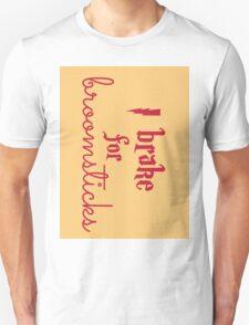 Brake for Broomsticks - Harry Potter Quidditch Gryffindor T-Shirt