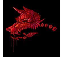 Blood Crystal Werewolf Skull - Black BG Photographic Print