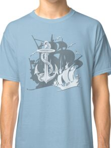 Pirate Ships & Anchor White Silhouette Classic T-Shirt