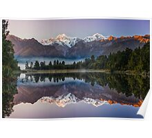 Glorious Lake Matheson Poster