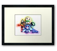 Pokemon Generation 7 Starters Framed Print