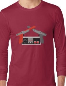 Crossed NES Zappers and Controller Long Sleeve T-Shirt