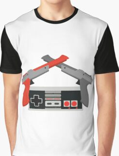 Crossed NES Zappers and Controller Graphic T-Shirt