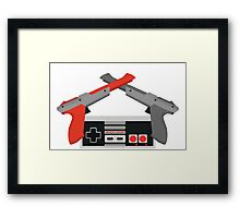 Crossed NES Zappers and Controller Framed Print