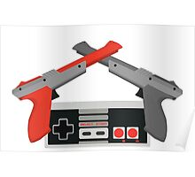 Crossed NES Zappers and Controller Poster