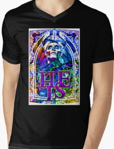 STAINED GLASS - he is Mens V-Neck T-Shirt