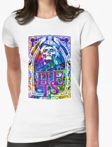 STAINED GLASS - he is Womens Fitted T-Shirt