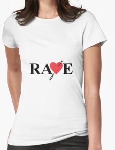 Catherine - Vincent Brooks RAVE Logo Womens Fitted T-Shirt