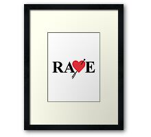 Catherine - Vincent Brooks RAVE Logo Framed Print