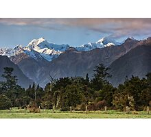 High Peaks of the Southern Alps Photographic Print